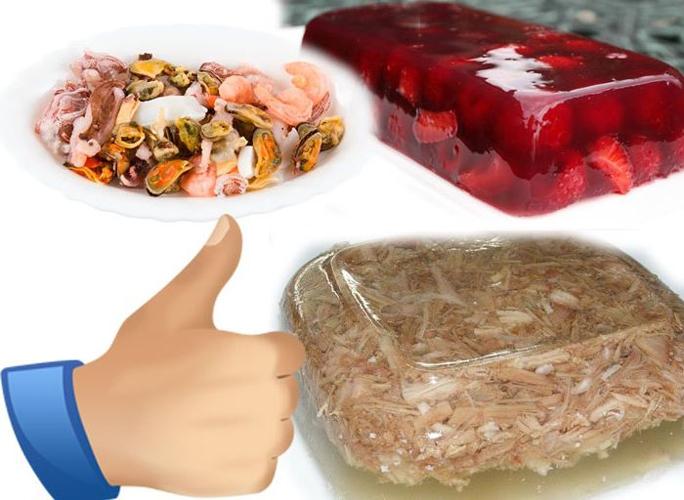 Желе крайне полезно при остеохондрозе