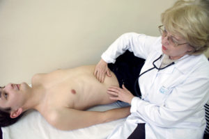 визуальный осмотр пациента