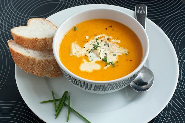 Суп молочный с мякотью тыквы