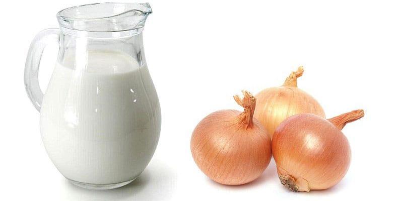 лук и молоко