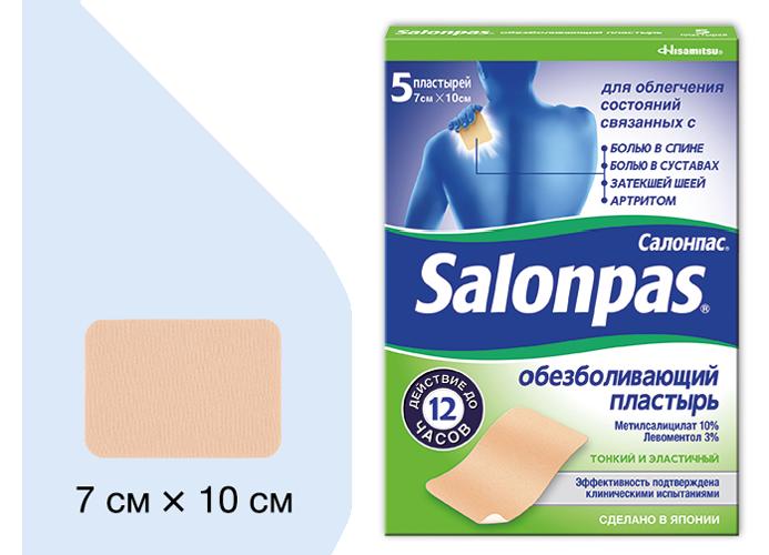 Размеры пластыря Салонпас