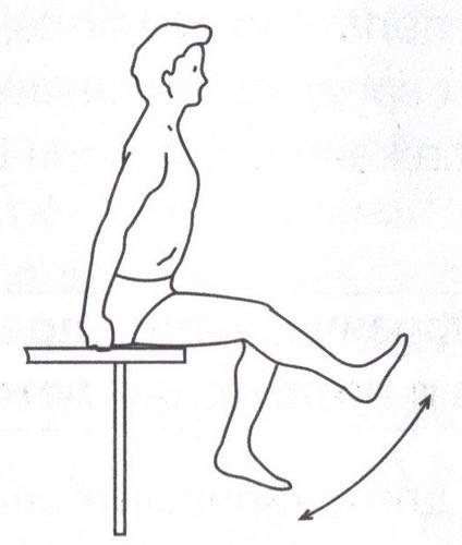 Одно из самых простых упражнений при артрите колен