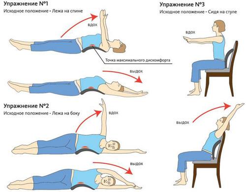 Упражнения, дополняющие массаж при протрузии