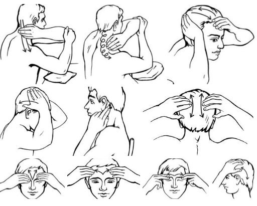 Техника самомассажа шеи и головы
