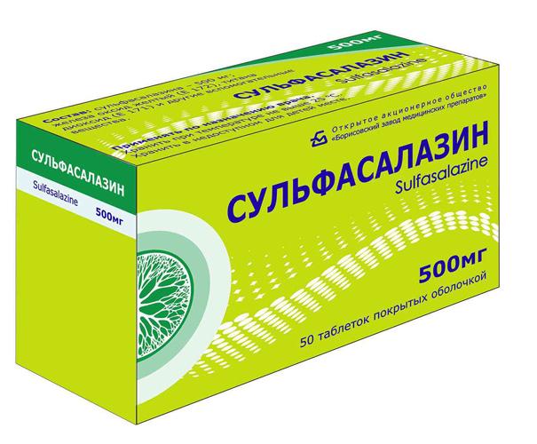 Препарат Сульфасалазин 500 мг