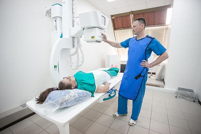 Проведение рентгена на современном аппарате