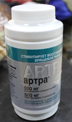 Таблетки с хондроитином Артра
