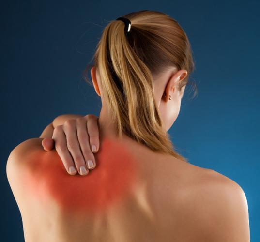 Локализация болей при плечевом остеохондрозе