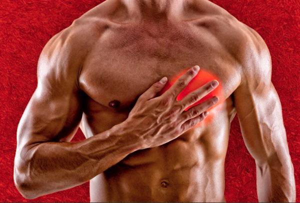 На фоне грудного остеохондроза часто возникают боли в области сердца