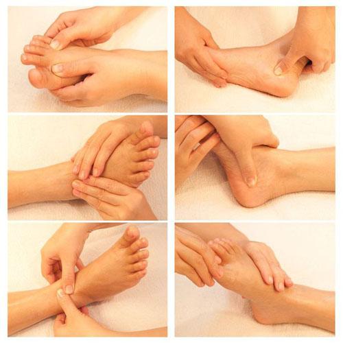 Техника щадящего массажа стоп пальцами
