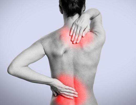 Локализация болей при обострении остеохондроза
