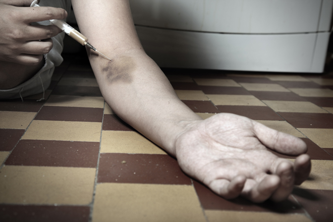 Руки наркомана