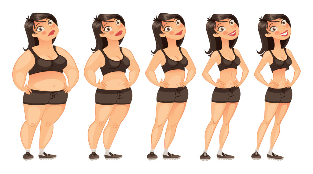 Переход от толстой девушки к худой