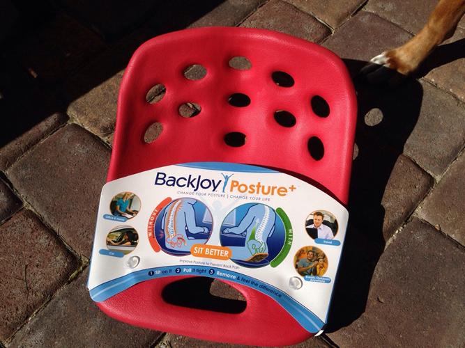 Сиденье BackJoy поставляется без упаковки
