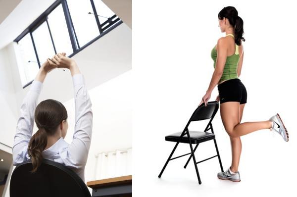 Разминка ног и рук в перерывах между работой