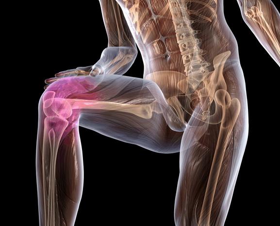 Локализация боли при остеопорозе колена