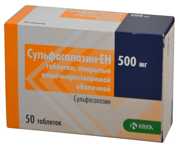 Препарат Сульфасалазин-ЕН 500 мг