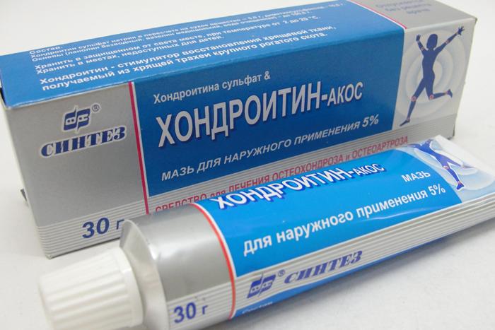Мазь Хондроитин-АКОС для лечения остеохондроза
