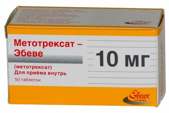 Упаковка таблеток Метотрексата