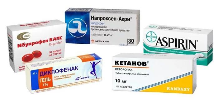 Наиболее популярные виды нестероидных противовоспалительных препаратов