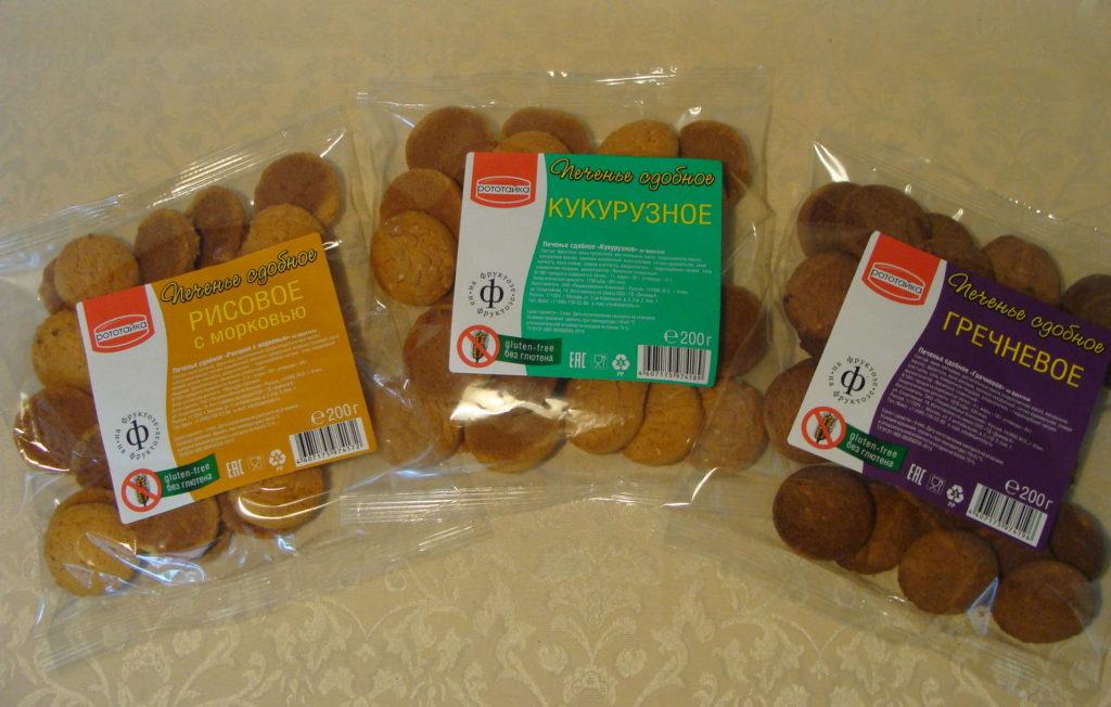 гречневое, кукурузное, рисовое печенье Рототайка в упаковках